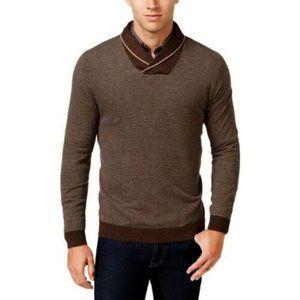 TASSO ELBA Shawl Collar Pullover Sweater sz L NEW